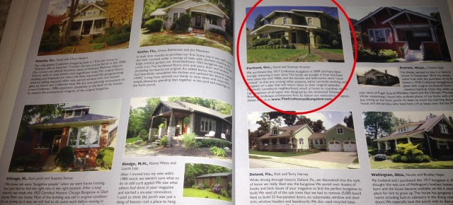 The Craftsman Bungalow Featured in Issue #75 of American Bungalow!