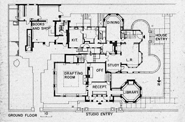 FLW Home Floor Plan 1
