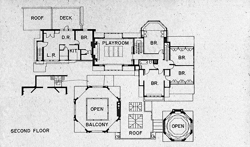 delightful frank lloyd wright house plans design #2: FLW Home Floor Plan 2