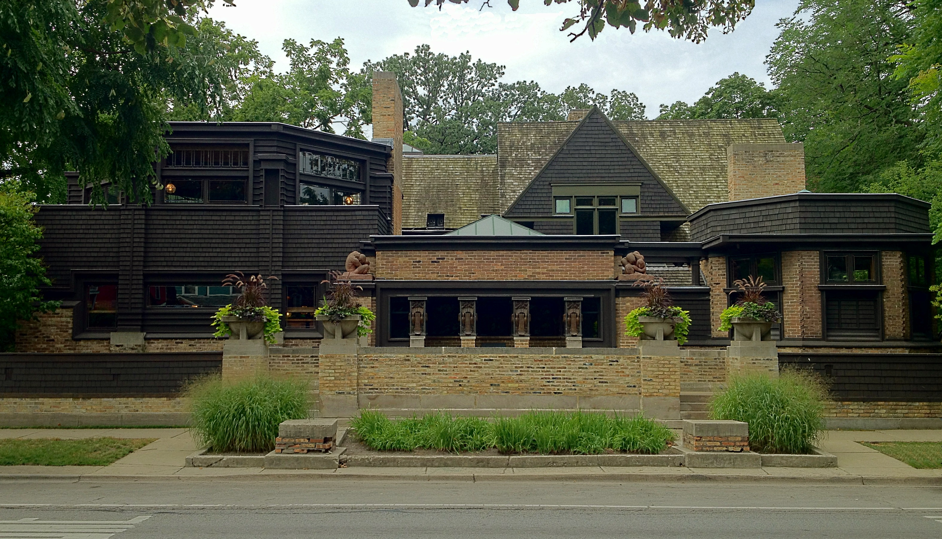 Frank Lloyd Wrights Oak Park Illinois Designs The First