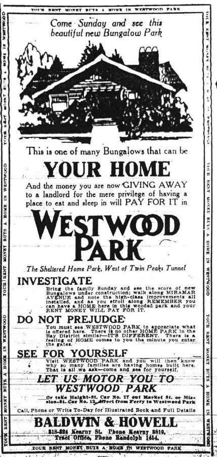 Westwood Park Ad 1