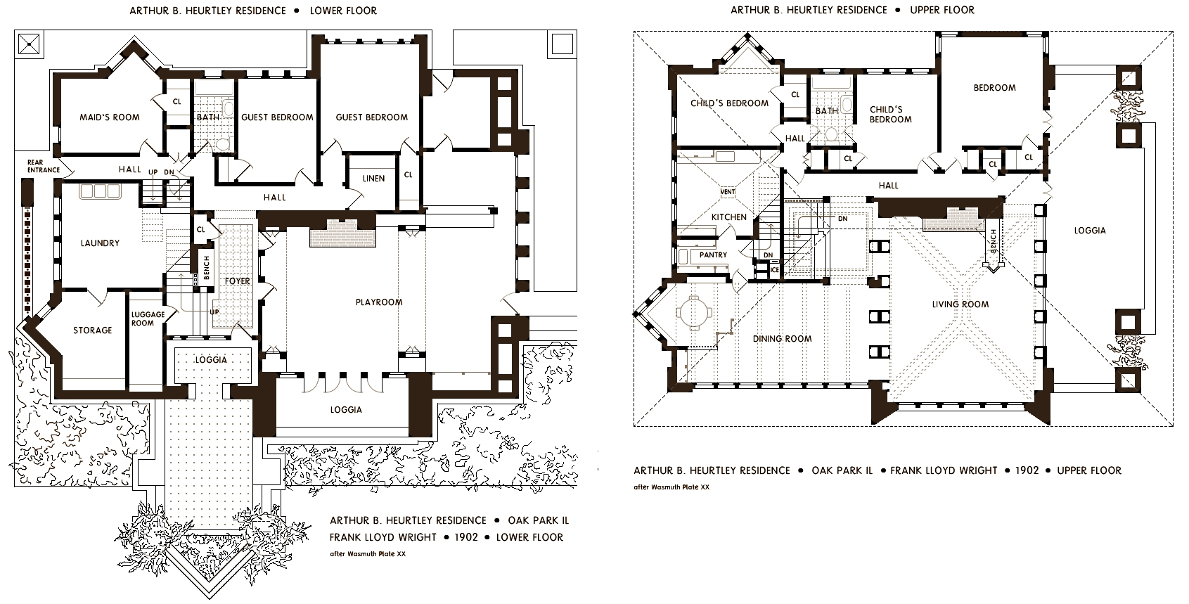 Frank lloyd wright s oak park illinois designs the Frank home plans
