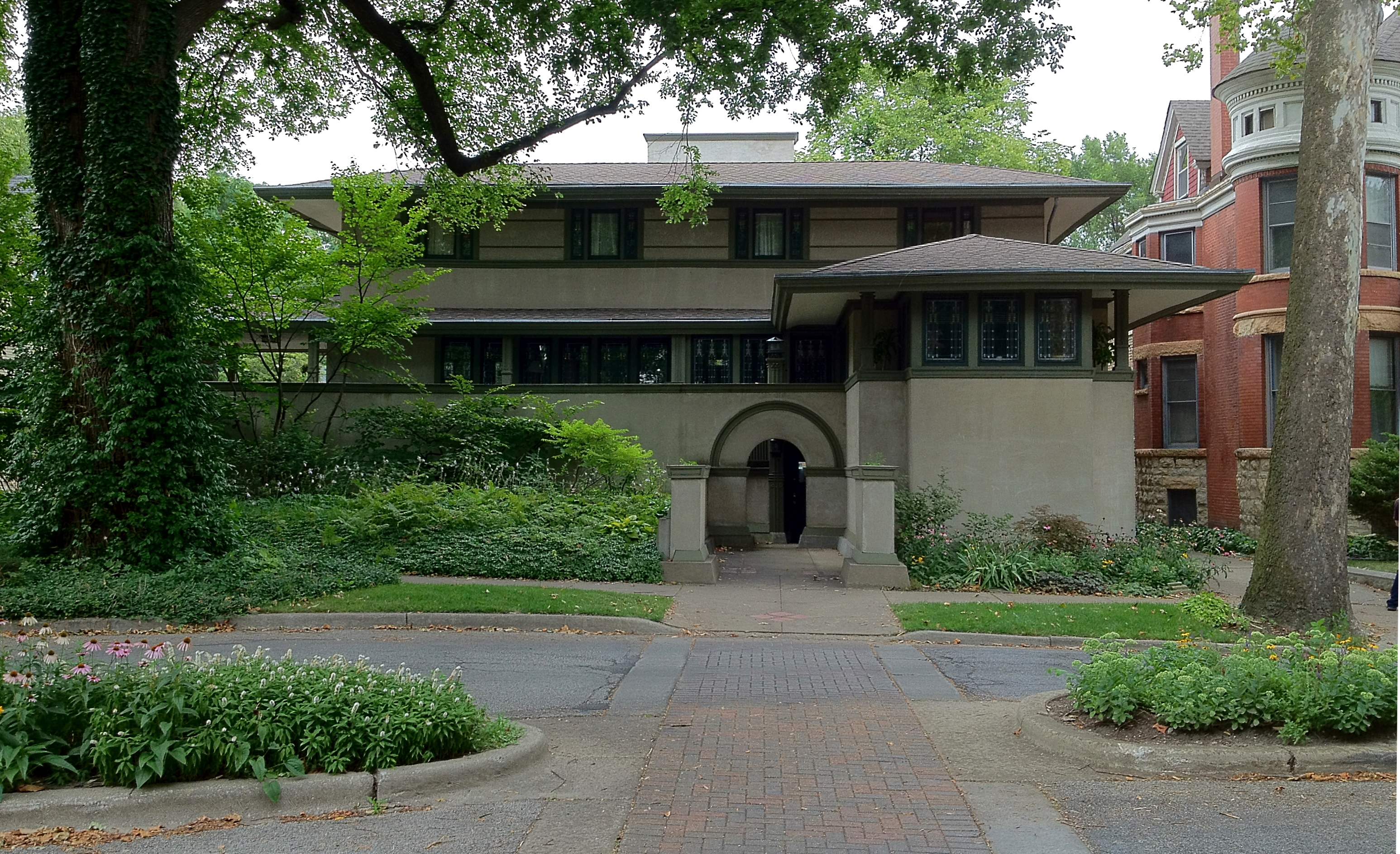 Frank Lloyd Wrights Oak Park Illinois Designs The Prairie