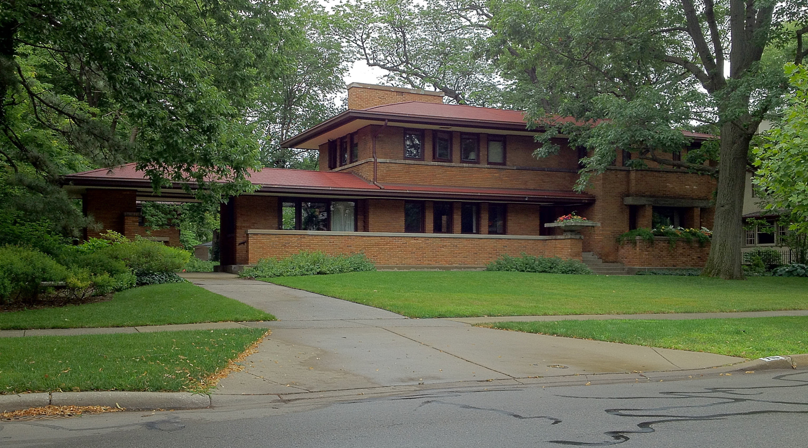 Frank Lloyd Wright Prairie Houses frank lloyd wright's oak park, illinois designs: the prairie
