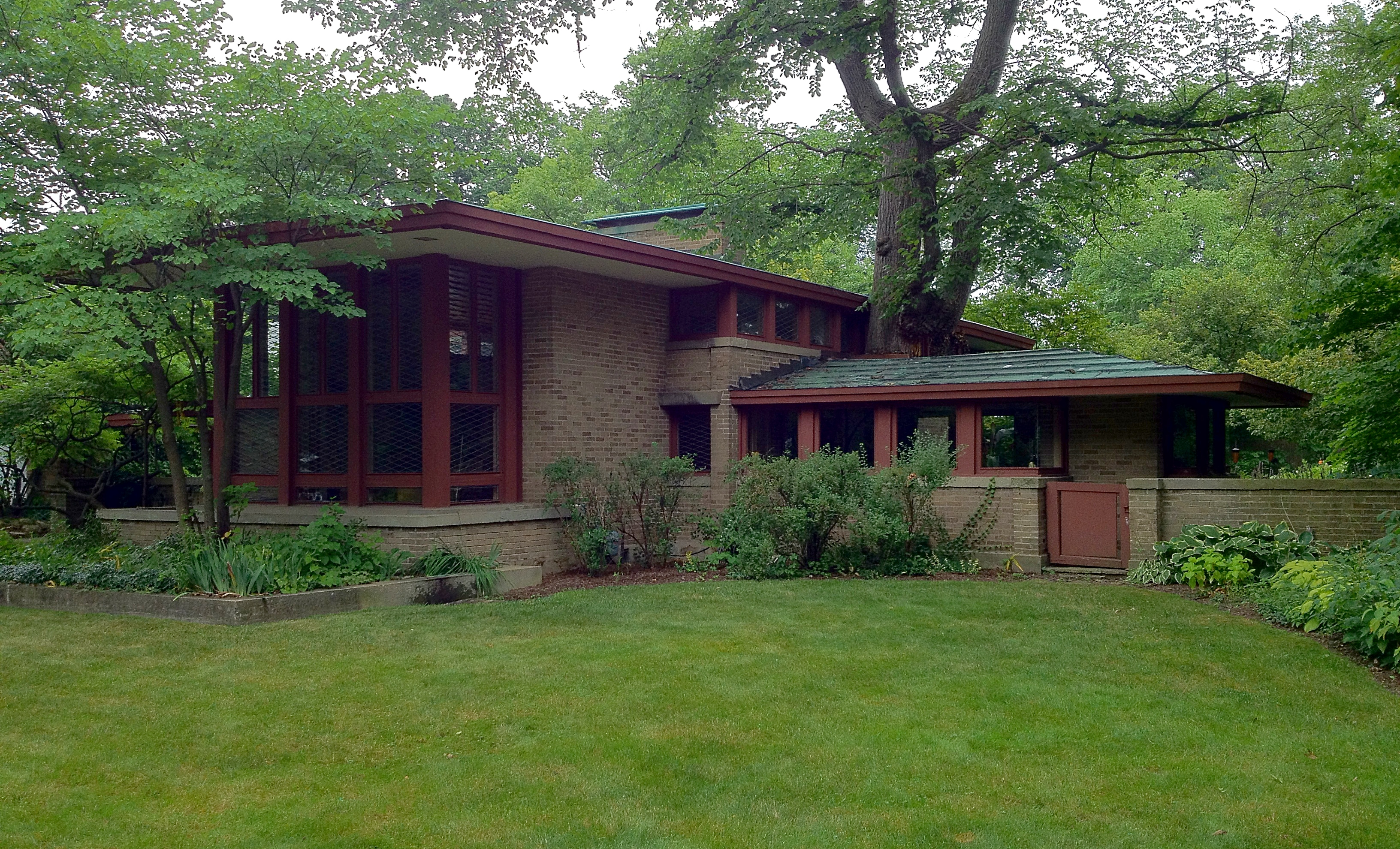 Bungalow Style Floor Plans Frank Lloyd Wright S Oak Park Illinois Designs The