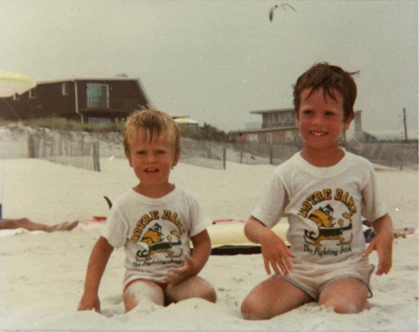 Me (left) and my brother Kevin, circa 1978