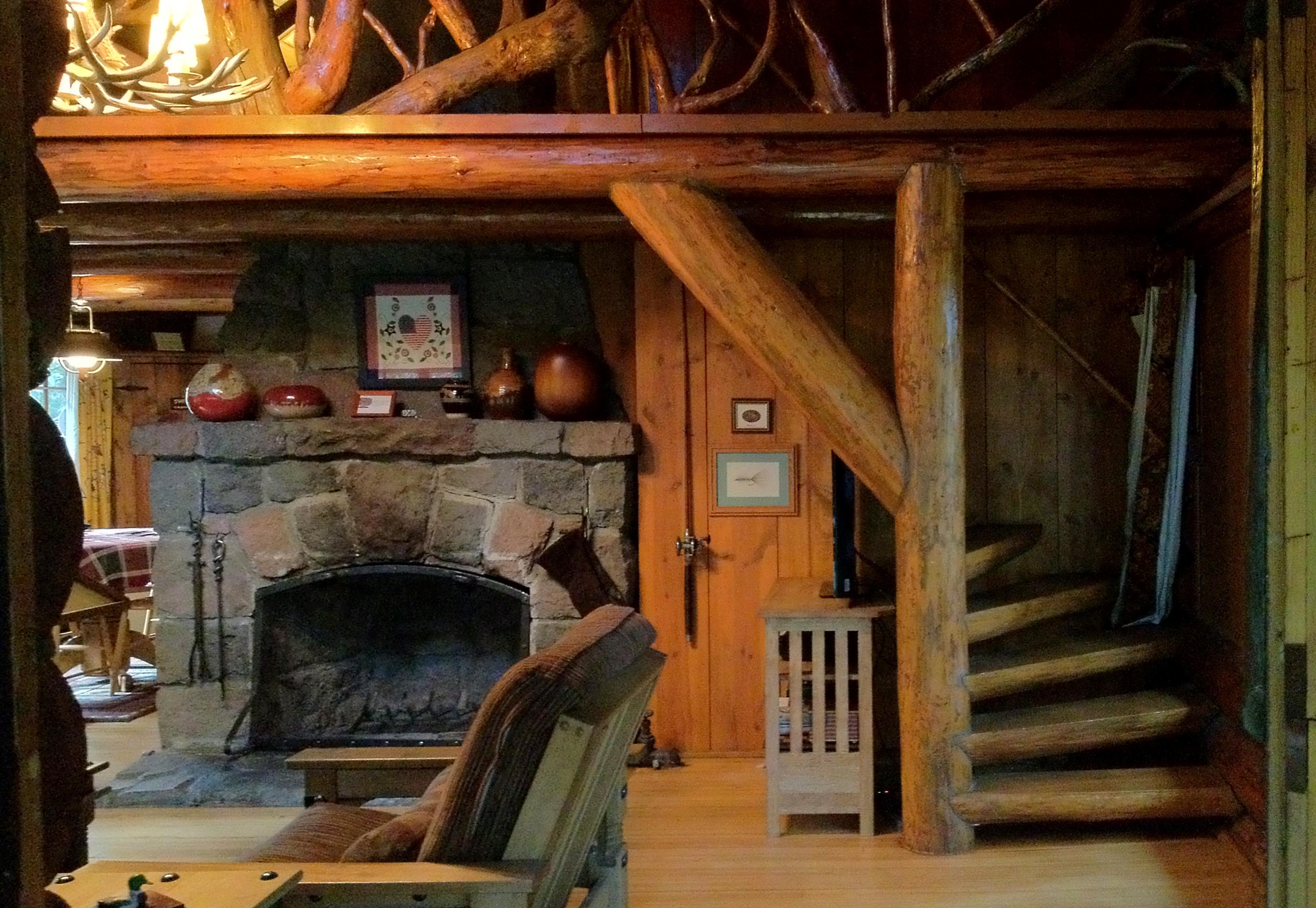 A Hand-Hewn Log Cabin In The Foothills Of Oregon's Mount