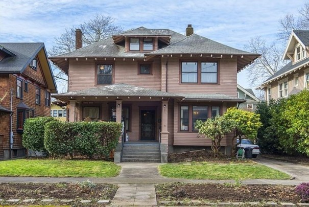 Peek inside a classic 1909 craftsman fixer for sale in for Portland craftsman homes