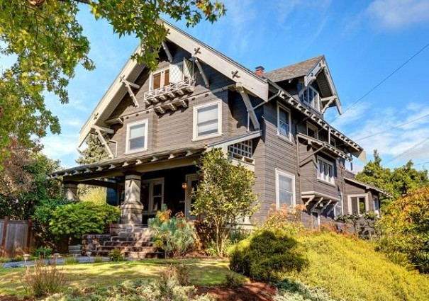 Peek inside a grand 1910 swiss chalet craftsman home for Chalet style homes for sale