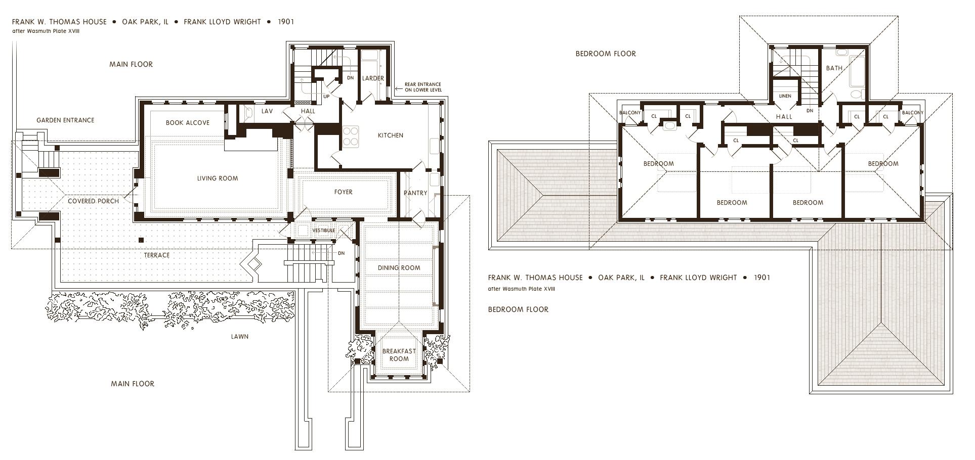 Flw Thomas House Floor 2 3